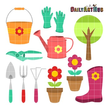 Garden Things Clip Art - Great for Art Class Projects!