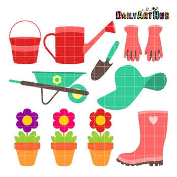 Garden Time Clip Art - Great for Art Class Projects!