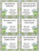 Nouns and Adjectives Task Cards or SCOOT Game - Garden