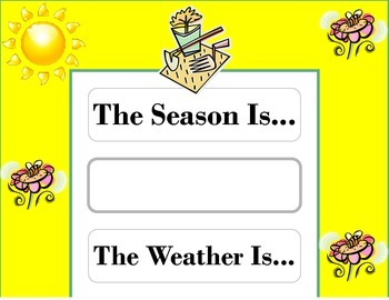 Garden Weather Chart! Garden Bulletin Board! Garden Theme!