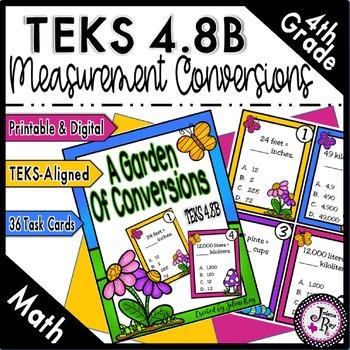 Garden of Conversions: New Math TEKS 4.8B & CCSS 4.MD.A.2