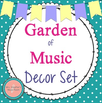 Garden of Music Decor Set