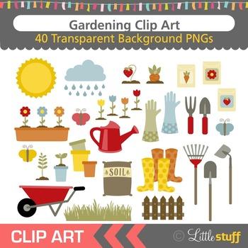 Gardening Clipart, Garden Clip Art Set, Spring Activities