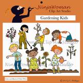 Gardening Kids Clip Art