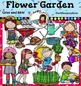 Gardening clip art Bundle. Color and B&W- 117 images!!