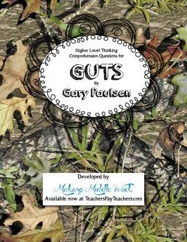 Gary Paulsen's GUTS Biography Comprehension Questions & Final