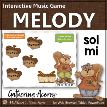 Gathering Acorns Sol Mi - Interactive Melody Game