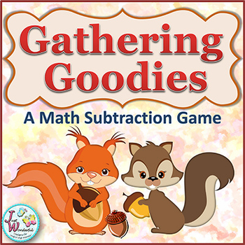 Subtraction - Math Centers and Game