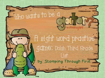 Gator Wrangling Sight Words- A Practice Game for Dolch Thi