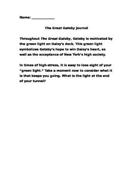 Gatsby Green Light Journal