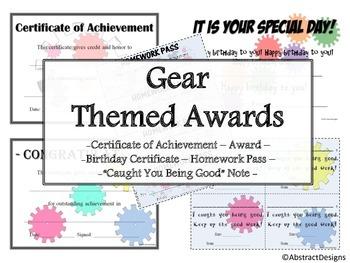 Gear Awards Set