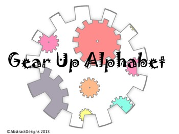 Gear Up Alphabet (Word Wall Tags)