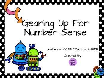 Gearing Up For Number Sense - a beginning algebra activity