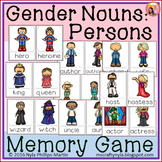 Gender Nouns: Persons - Memory Game