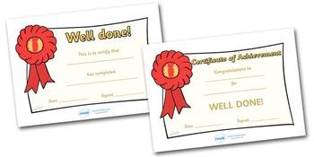 General Certificates
