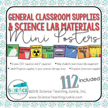 General Classroom Supplies and Science Lab Materials Mini Posters