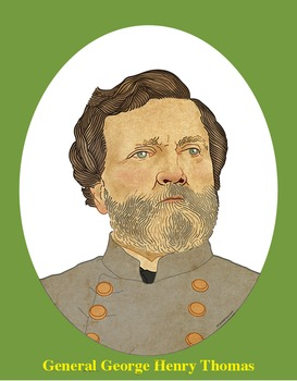 General George Henry Thomas Realistic Clip Art, Coloring P