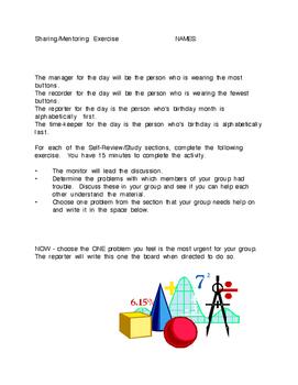 Tools: Group Homework Review & Mentoring Plan