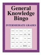 General Knowledge Bingo Book - Intermediate