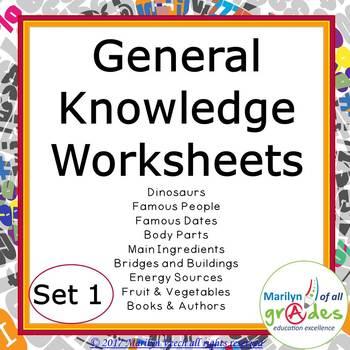 Fill-er-in-er-ers - Set 1 - General Knowledge
