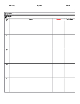 General Lesson Plan Template