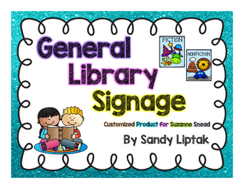 General Library Posters (customized product)