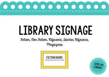 General Library Signage