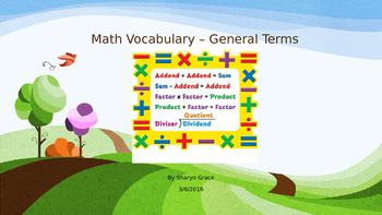 General Math Vocabulary