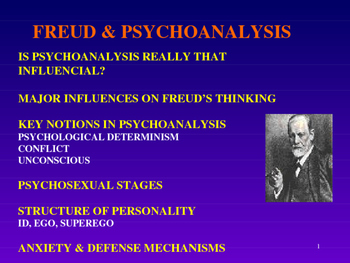Psychology - Freud and Psychoanalysis Powerpoint