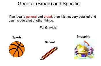 General vs. Specific SMART Notebook Lesson