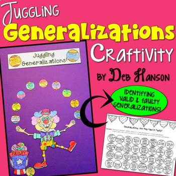Generalizations Craftivity: Faulty and Valid Generalizations