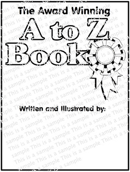Generic A to Z Book Cover Blank for all grades & subjects