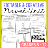 Generic Novel Unit Study for Any Book Activities, Book Rep