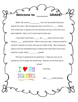 Generic Welcome Letter - Student