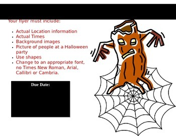 Generic Word processing lesson handout - Create a Hallowee