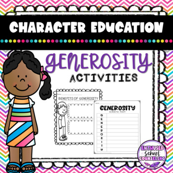 Generosity Activity Pack- 8 Activities