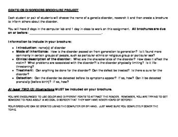 Genetic Disorders Brochure Project