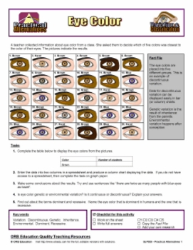 Genetic Variation in the Classroom - Eyes