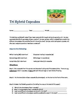 Genetics Activity: Tri Hybrid Cupcakes
