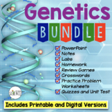Genetics Bundle  Powerpoint Notes Labs Worksheets Review G