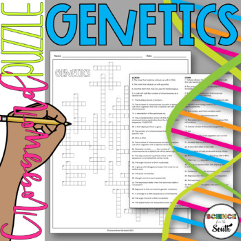 Genetics Crossword Puzzle for Review or Assessment