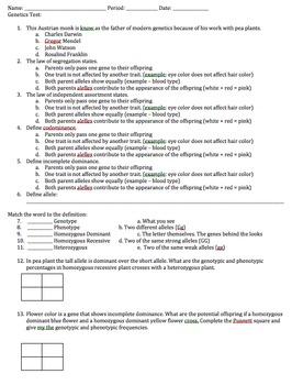 Genetics Quiz
