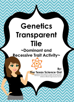 Genetics Transparent Tiles - A Dominant and Recessive Trai
