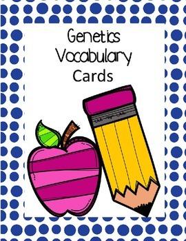 Genetics Vocabulary Words