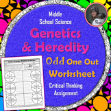 Genetics and Heredity Odd One Out Worksheet