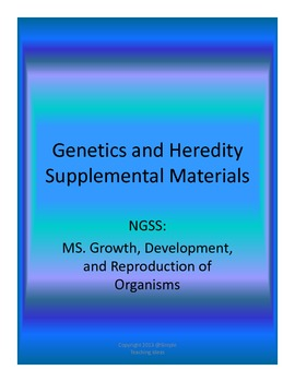 Genetics and Heredity Supplemental Material with word wall