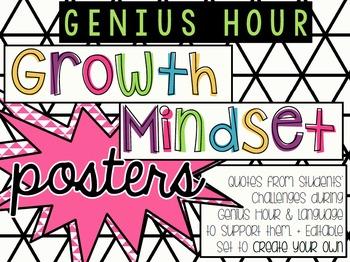 Genius Hour Growth Mindset EDITABLE Posters