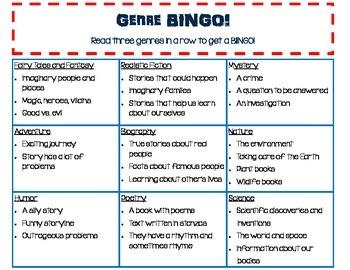 Genre BINGO!