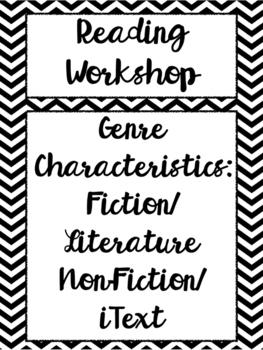 Genre Characteristics - Definitions, Worksheet, Quiz, & Fl