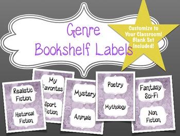 Genre Labels for Your Classroom Bookshelf